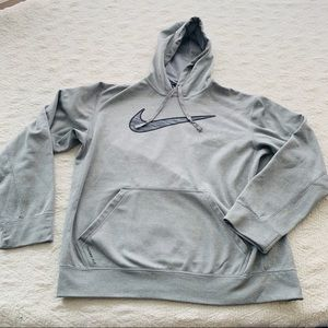 Nike Therma Fit Hoodie light Gray size medium GUC